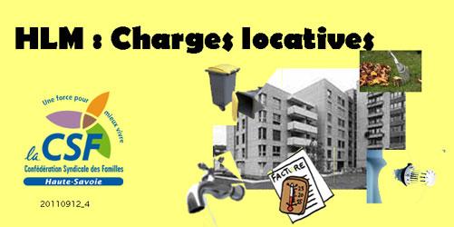 Charges locatives hlm conf d ration syndicale des familles de haute savoie - Liste des charges locatives incombant au locataire ...