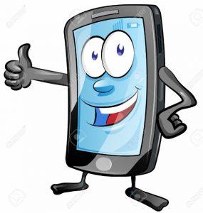 43683599-amusant-dessin-anim-t-l-phone-mobile-avec-les-pouces-vers-le-haut-Banque-d'images (608x640)